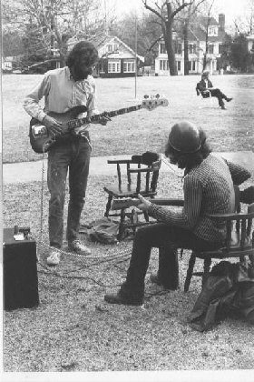 jamming on the grass